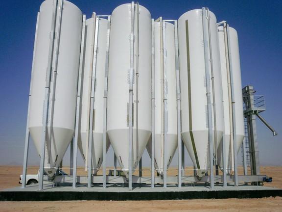 Impianto silos imbullonato verticale