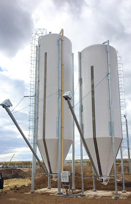 Produzione silos verticali imbullonati