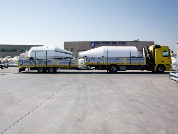 Trasporto silos imbullonato verticale